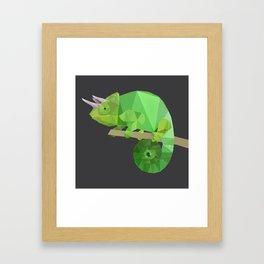 Low Poly Chameleon Framed Art Print