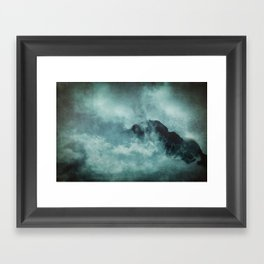 On the top of the world- Mountains Dust Framed Art Print