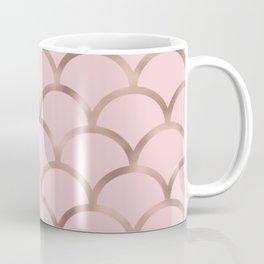 Rose gold mermaid scales Coffee Mug