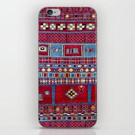 Tunisian Flatweave Antique Tribal Rug iPhone Skin