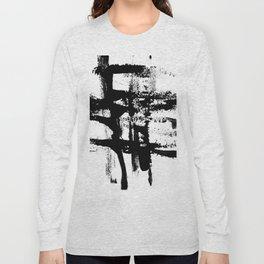 Brush Stroke Art Long Sleeve T-shirt