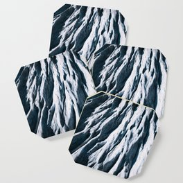 Arctic Glacial Pattern from above - Landscape Photography Coaster