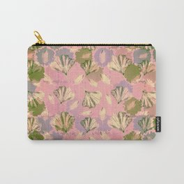 Mosaic Ginkgo (Peach and Pink) Carry-All Pouch