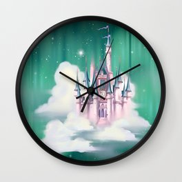 Star Castle In The Clouds Wall Clock