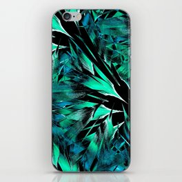 Jungle Trip (teal) iPhone Skin
