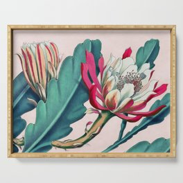 Flowering cactus IV Serving Tray