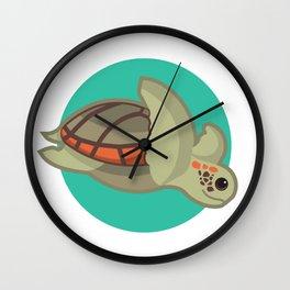Loggerhead sea turtle Wall Clock