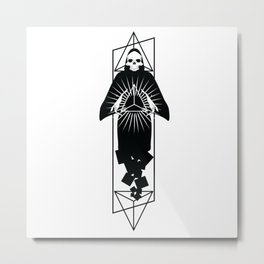 Discover triangle skull Metal Print