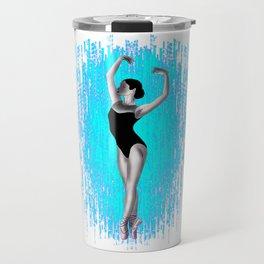 graceful elegant dancing ballerina, ballet lover Travel Mug