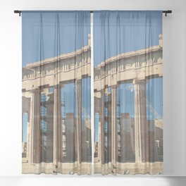 Parthenon, Acropolis of Athens, Greek photography, ancient Greece Sheer Curtain