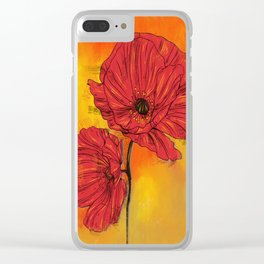 Poppy Variation 7 Clear iPhone Case