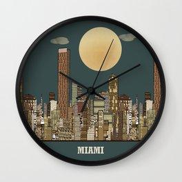 miami city  Wall Clock