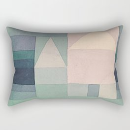 1922 - Three Houses by Paul Klee Rectangular Pillow