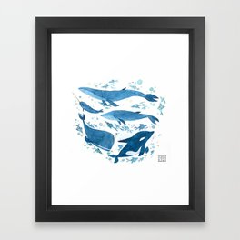 Whales, Whales Framed Art Print