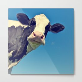 Country Life | Say Hello to Mrs. Cow Metal Print