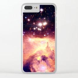 Galaxy nebUla : Warm Scorpius Clear iPhone Case