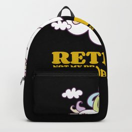 Retired Not My Problem Anymore Unicorn Shirt for Retirement Cute Sleeping Unicorn on Clouds Backpack