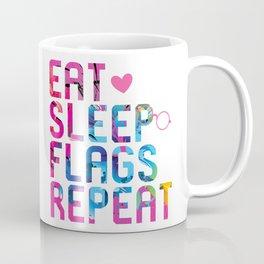 Eat Sleep Flags Repeat Historian Coffee Mug