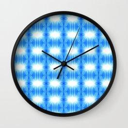 Morning Glory Blues Pattern 2 Wall Clock