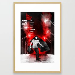 A GIRL WALKS HOME ALONE AT NIGHT :: POSTER 02 Framed Art Print