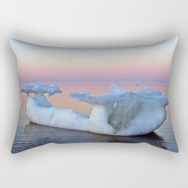 Viking Iceship on the Sea Rectangular Pillow