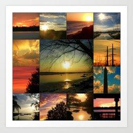 Sun collage Art Print