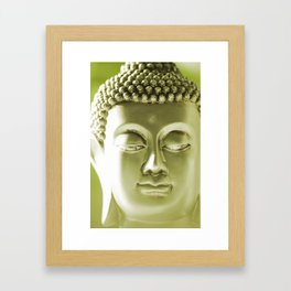 Buddha Head Framed Art Print