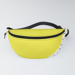 Yellow heart with grey dots around Fanny Pack