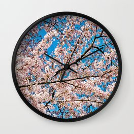 Cherry Blossom III Wall Clock
