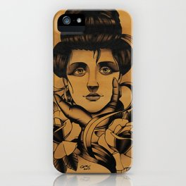 WOMAN and Roses - TATTOO iPhone Case