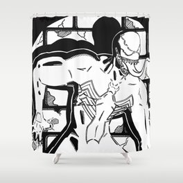 Halt Right There! Shower Curtain