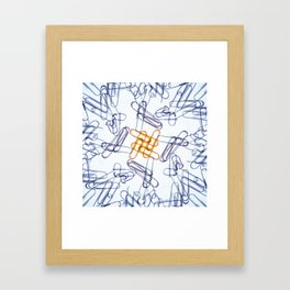 Kaleidoscope -Paper Clips Framed Art Print