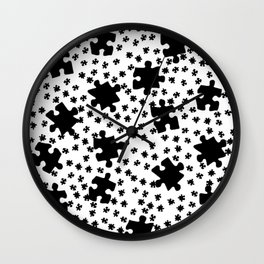 DT PUZZLE SCATTER 9 Wall Clock