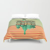 architecture Duvet Covers featuring Pineapple architecture  by AmDuf