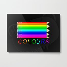 Colours Metal Print