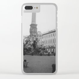 The Curious Case of the Man in Black Clear iPhone Case