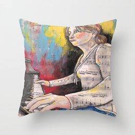 Piano 1 Throw Pillow