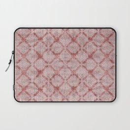 Faux Velvet Dusty Pink Lattice Pattern Laptop Sleeve
