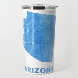 Arizona map outline Blue Jeans watercolor Travel Mug