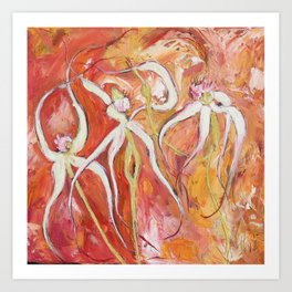 Spider Orchid Art Print