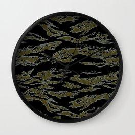 Tiger Camo Wall Clock