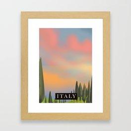 Italy Sunset Framed Art Print