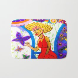 Lady in Red Bath Mat