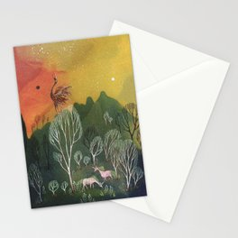 Moons of Shadow and Light Stationery Cards