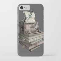 bookworm iPhone & iPod Cases featuring Bookworm by BlancaJP
