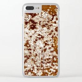 Night Garden Burned Umbra Clear iPhone Case