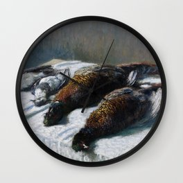 Still Life with Pheasants and Plovers Wall Clock