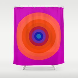 Lighter Bullseye Shower Curtain
