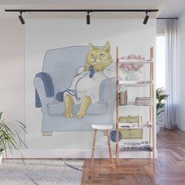 1013 Knitting Cat - Kitten Socks Wall Mural
