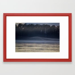Misty Evening on the River Framed Art Print
